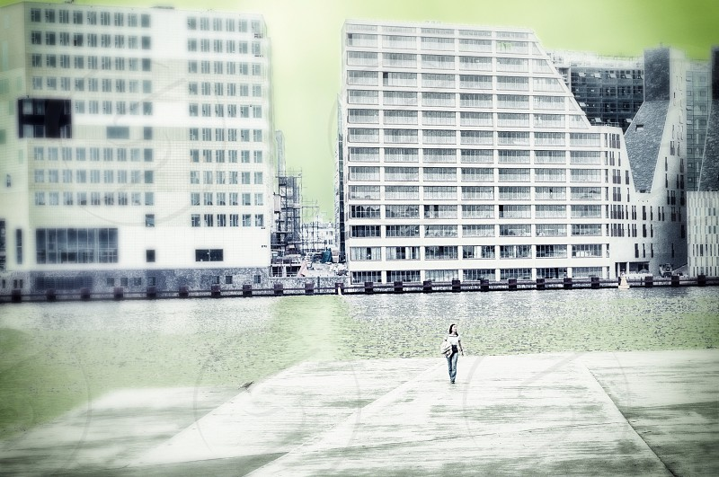 2 grey big building photo