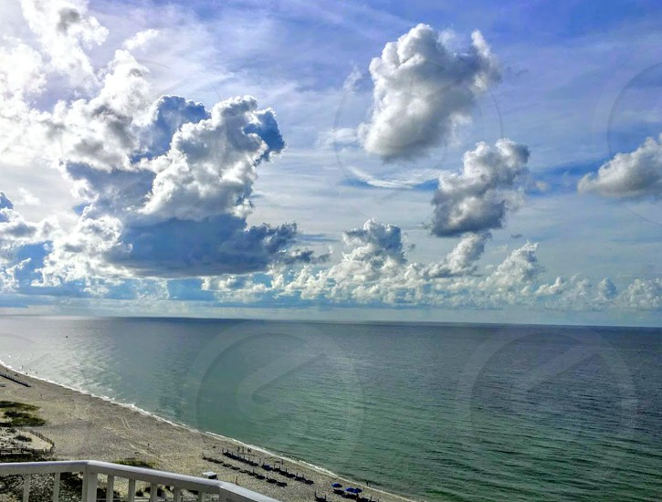 beach clouds photo