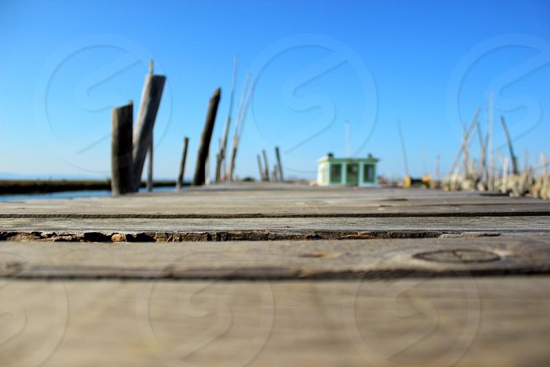 wooden planks photo
