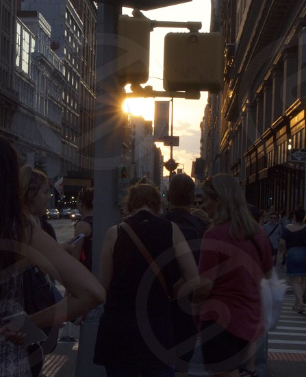 Sun Flare Manhattan city scape photo