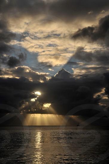 Crepuscular Sunset photo