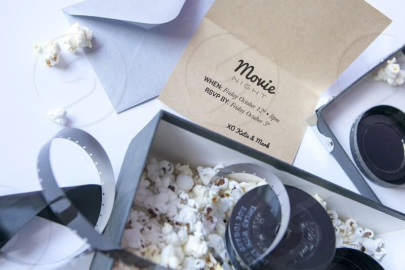 movie night invite popcorn photo