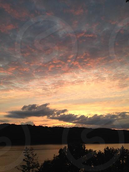 Sunset River beautiful nature photo