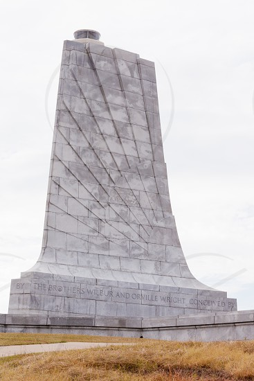 Wilbur and Orville Wright Brothers National Memorial granite tower for first aviation flight in history Kill Devil Hills Outer Banks OBX North Carolina NC US Atlantic Coast photo