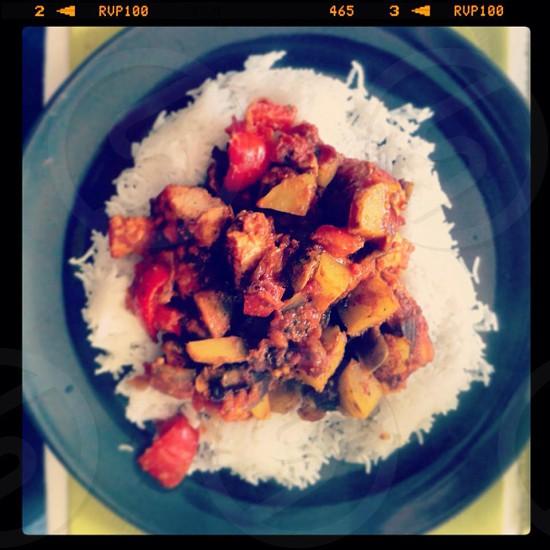 Homemade curry yummy photo