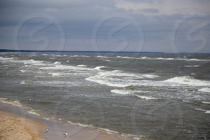 Snow Covered Beach Of Zempin