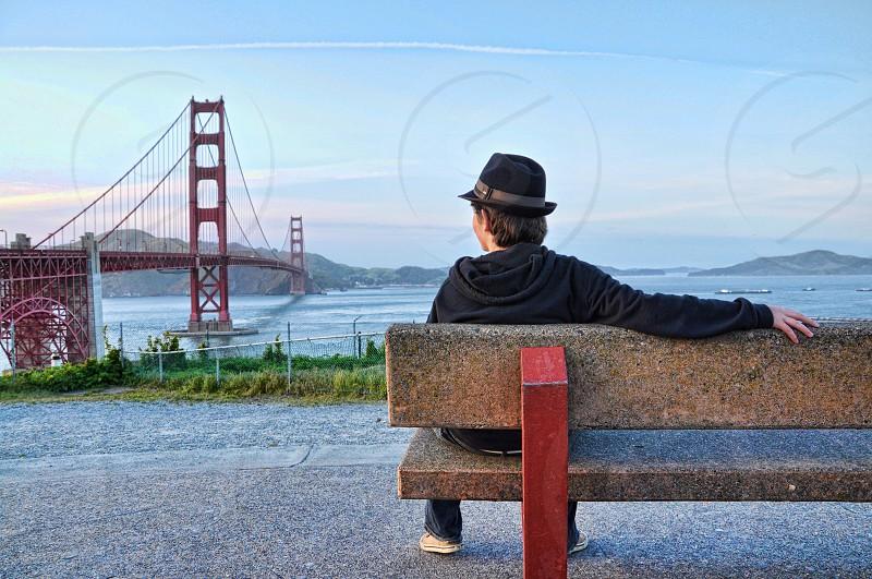 Enjoying the view of Golden Gate Bridge  photo