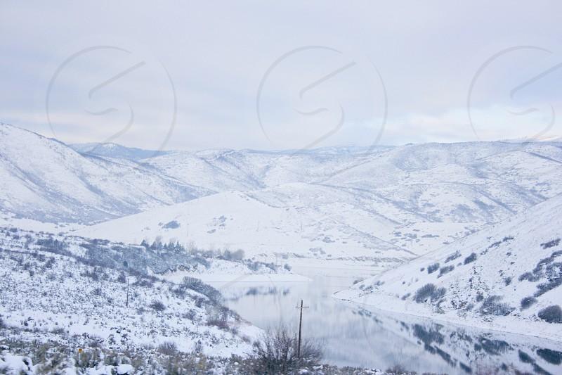 snow  mountain view photo