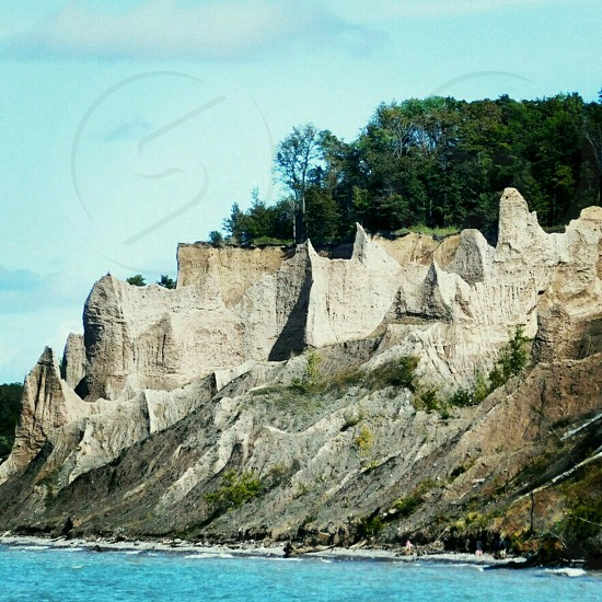 Chimney bluffs Lake Ontario photo