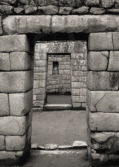 Doorways in the Ruins of Muchu Picchu photo