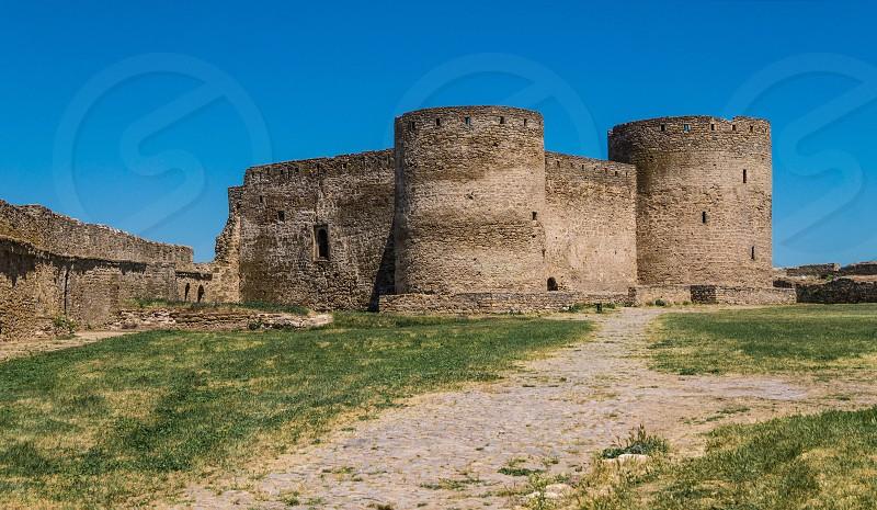 Akkerman Citadel in Bilhorod-Dnistrovskyi near Ukrainian Odessa city in a sunny day photo
