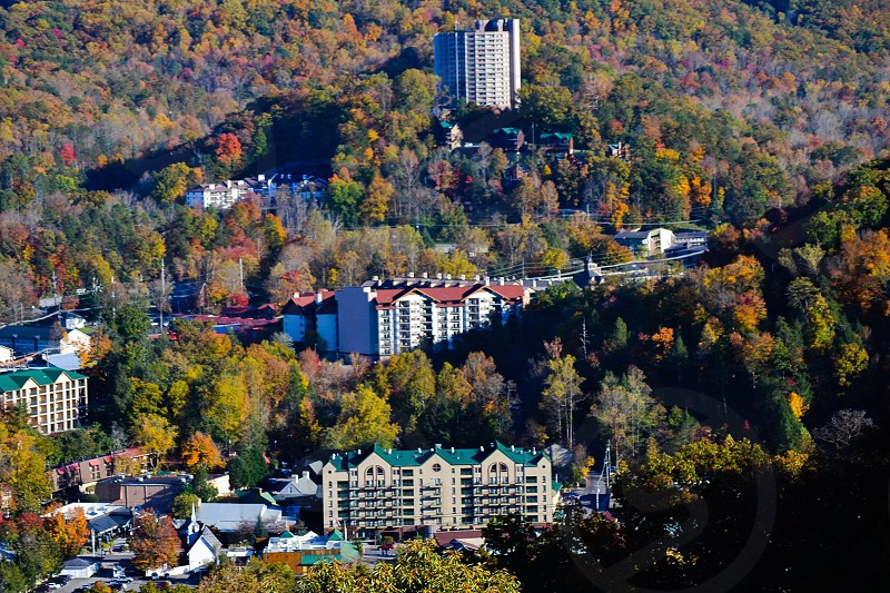Mountain view  of Gatlinburg Tennessee  photo