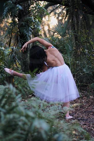 Girl ballet no face photo
