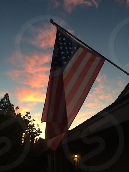 Flag at Dawn photo