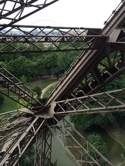 On the way up.  Le Tour Eiffel Paris France photo