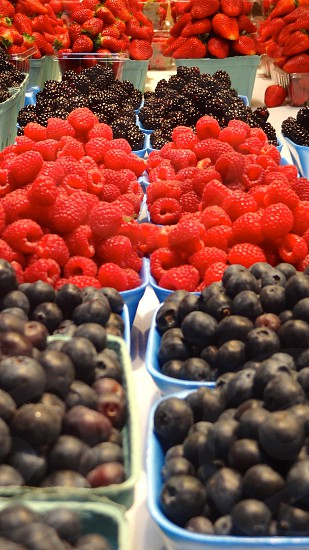 Fresh fruit at the farmers market.  Berries. photo