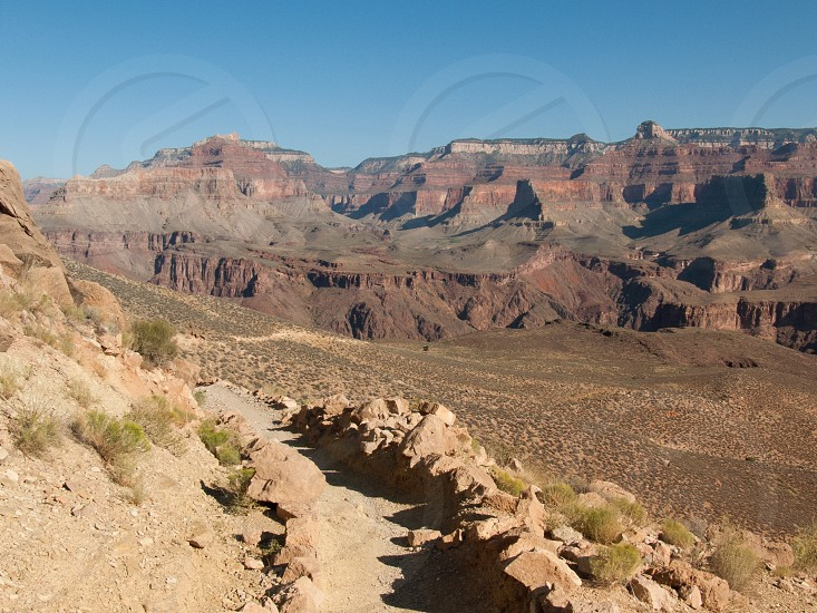 Trail in the Grand Canyon photo