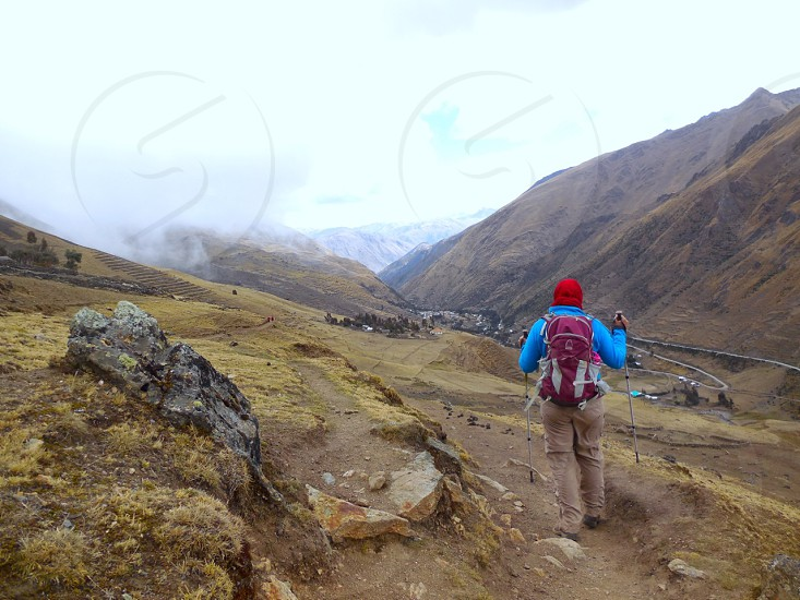Trekking across the Andes in Peru photo