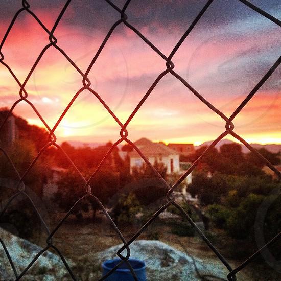 Beautiful sunset  Alhaurin de la Torre in Malaga-Spain photo
