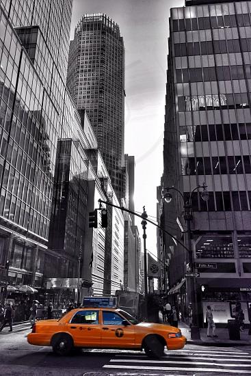 New YorkManhattanyellow cab photo
