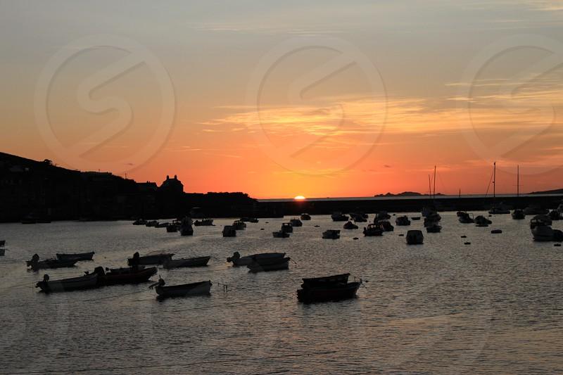 Harbour sunset photo