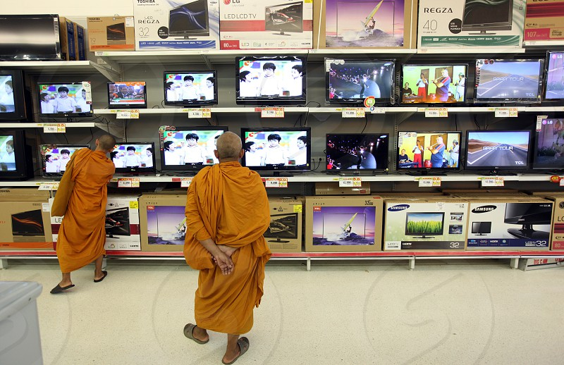 a shopping mall in the city of Amnat Charoen in the Region of Isan in Northeast Thailand in Thailand. photo