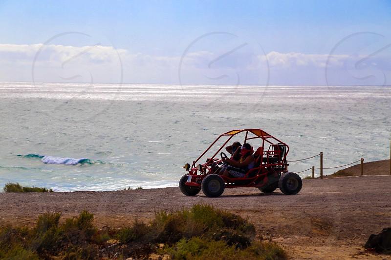 Sport activity driving scenery ocean photo
