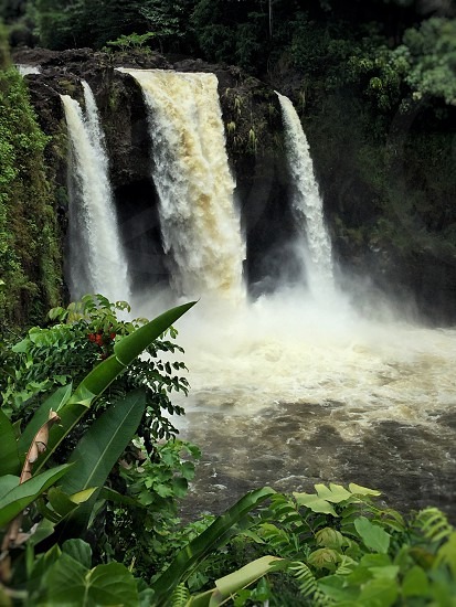 Waterfalls tropical paradise paradise Hawaii dream destinations photo
