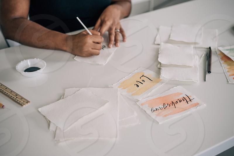 Calligraphy artist lifestyle photoshoot creative photo