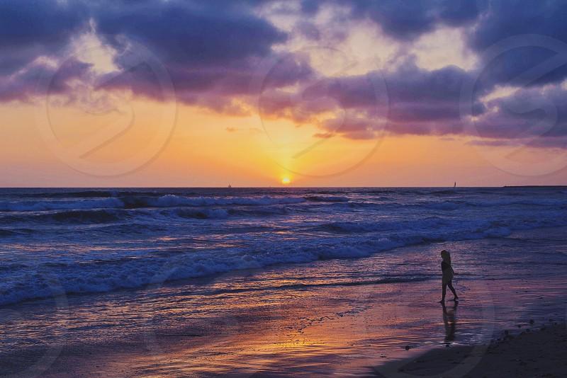sunset beach photo photo
