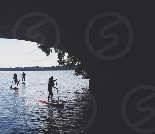 men on boat silhouette photo