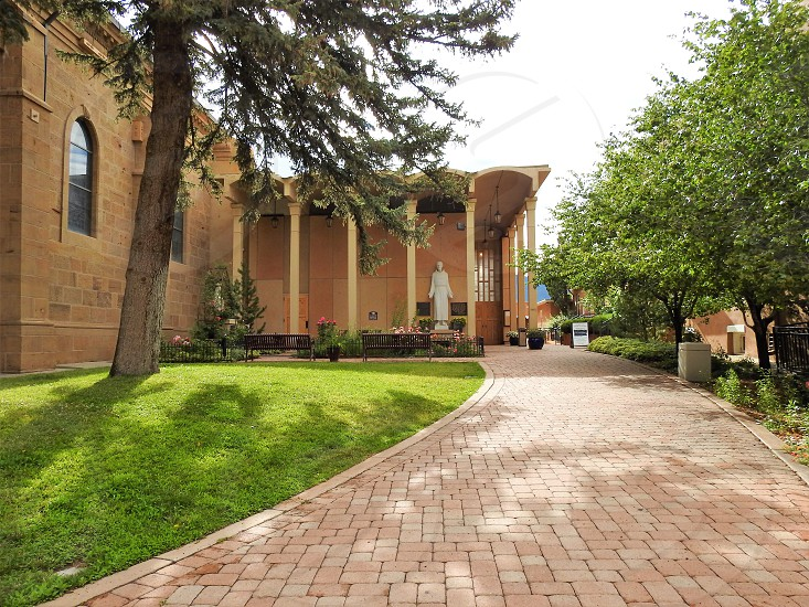 Garden Entrance of Cathedral Basilica of St. Francis of Assisi - Santa Fe photo