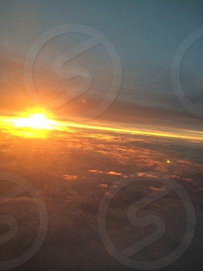 Breathtaking view of the world above. photo