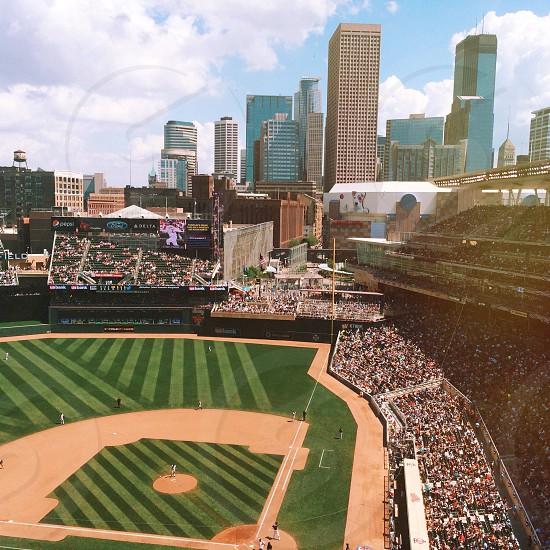Minneapolis Target Field baseball skyline photo