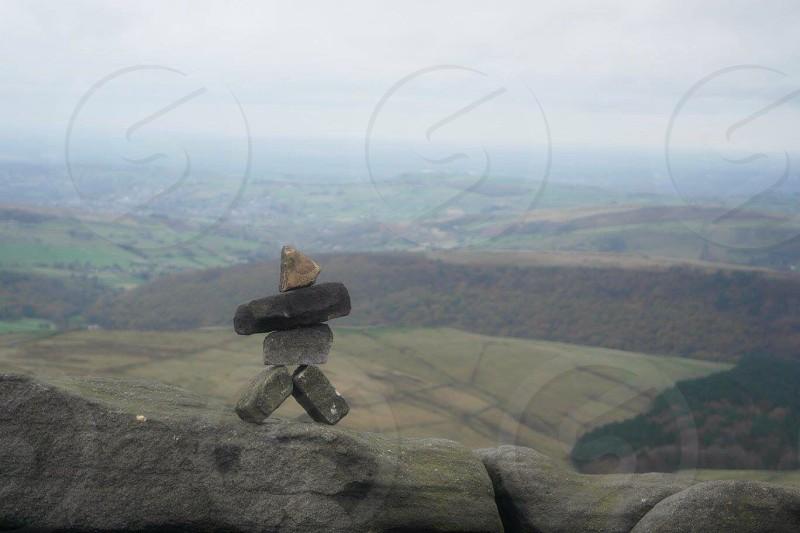 stone man - peak district national park photo