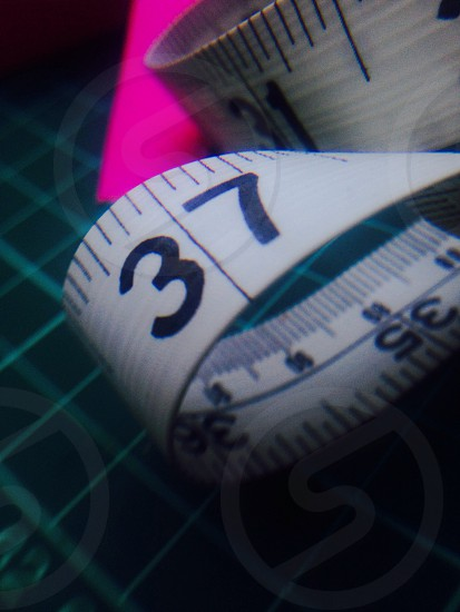 Tape measure pink macro lens  photo