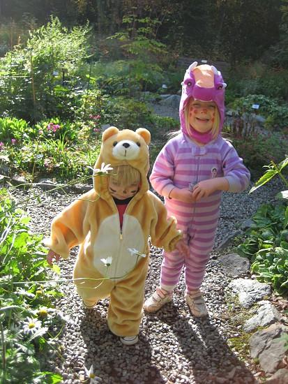 Costumes kids Halloween Fall photo