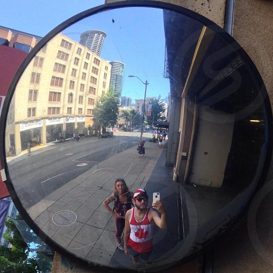 seattle street selfie photo