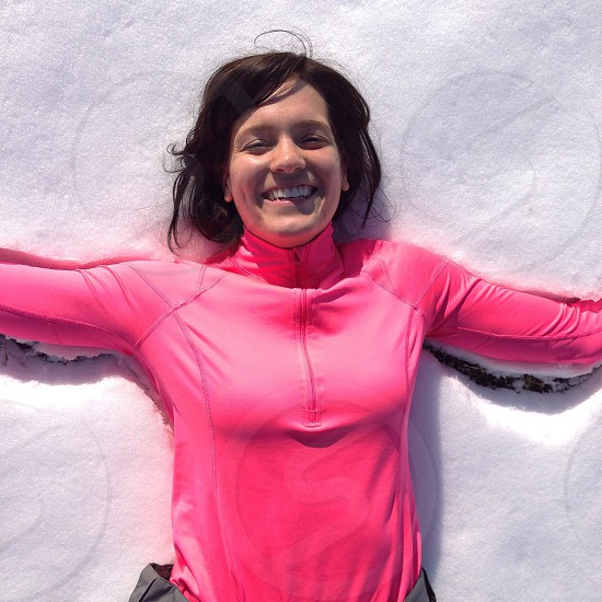 women's pink long sleeve shirt  photo