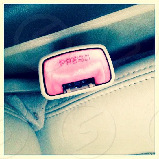Car belt buckle photo