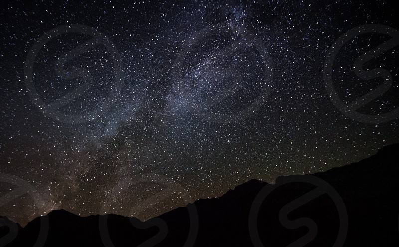 Stars night sky himalayas nepal photo