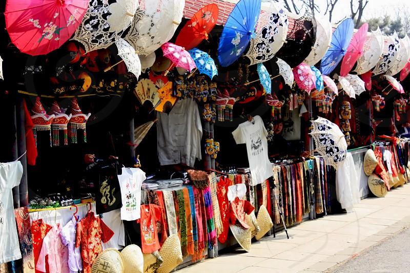 Colorful Street Vendors photo
