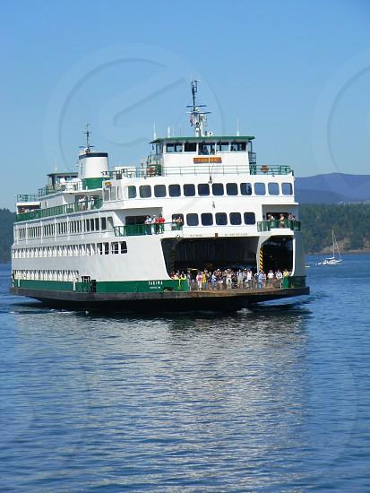 Washington State Ferry in Puget Sound photo