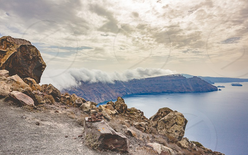 Hiking Greece Santorini Hike to Oia photo