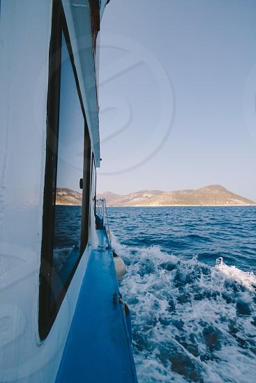 boat on ocean photo