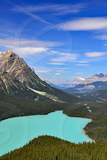 Peyto Lake - Banff National Park Canada. photo