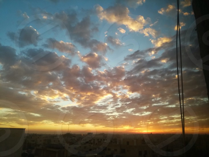 Jordan Amman  sunset  photo