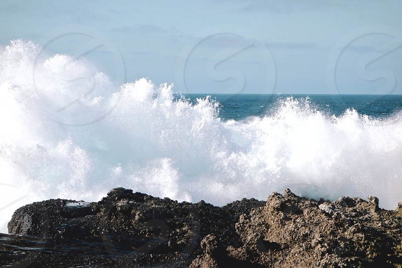 ocean wave photography  photo