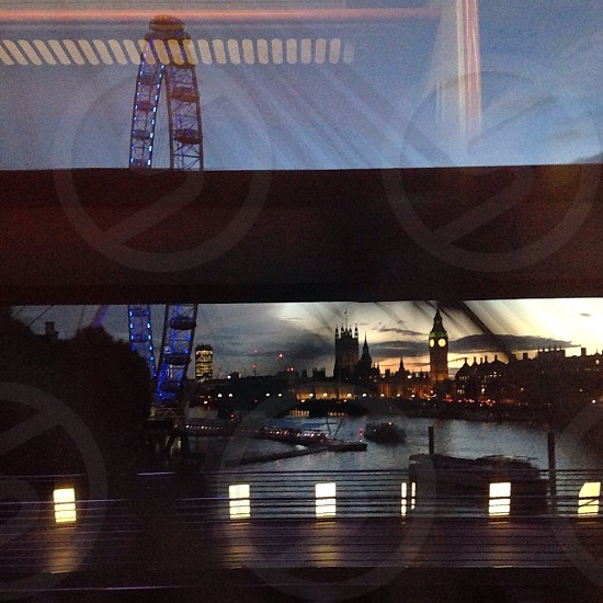 Trainscapes- window reflections of London  photo