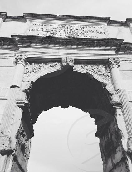gray concrete arch photo